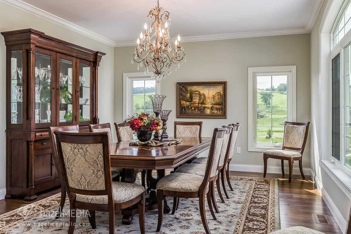 Interior residential photography dining