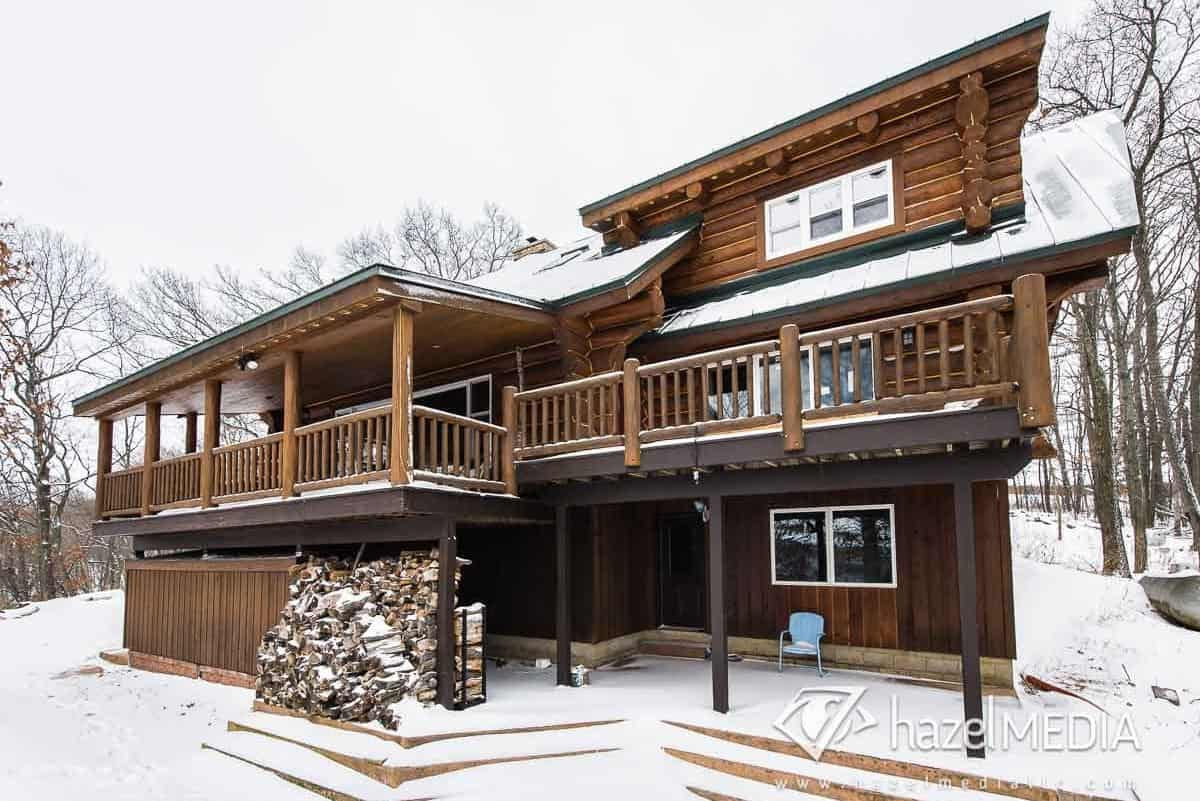Log residential home exterior