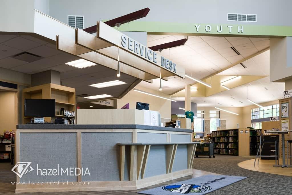Holmen Library Service Desk