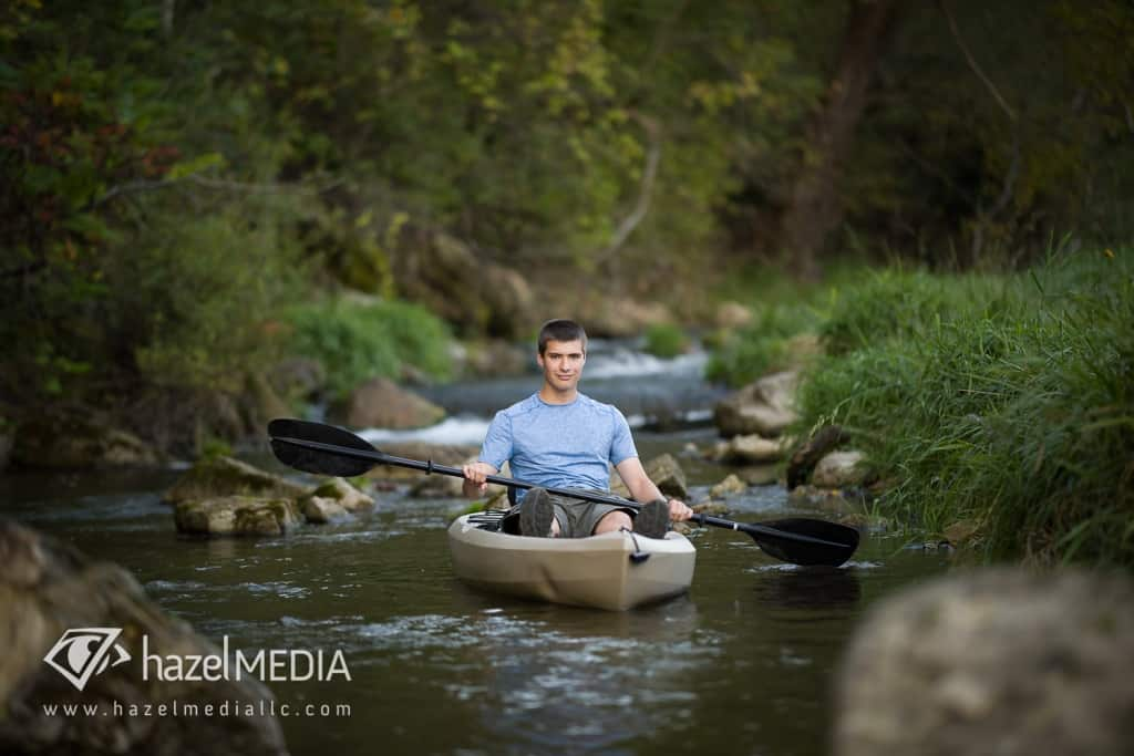 Senior Photography, Wisconsin Senior with Kayak, Wisconsin Senior Photography