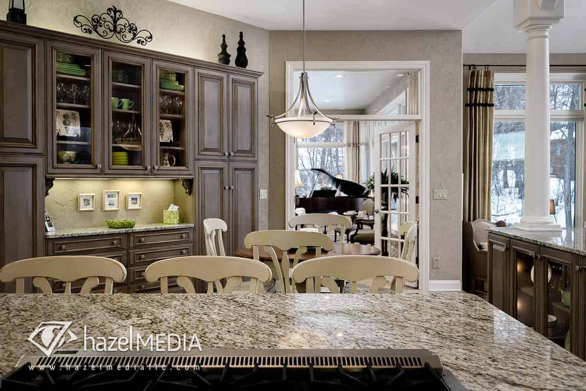 Residential real estate grand kitchen counter
