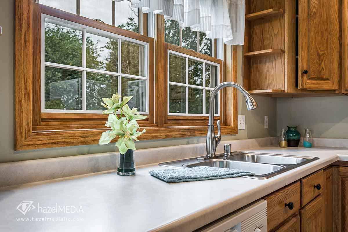 Residential interior kitchen sink