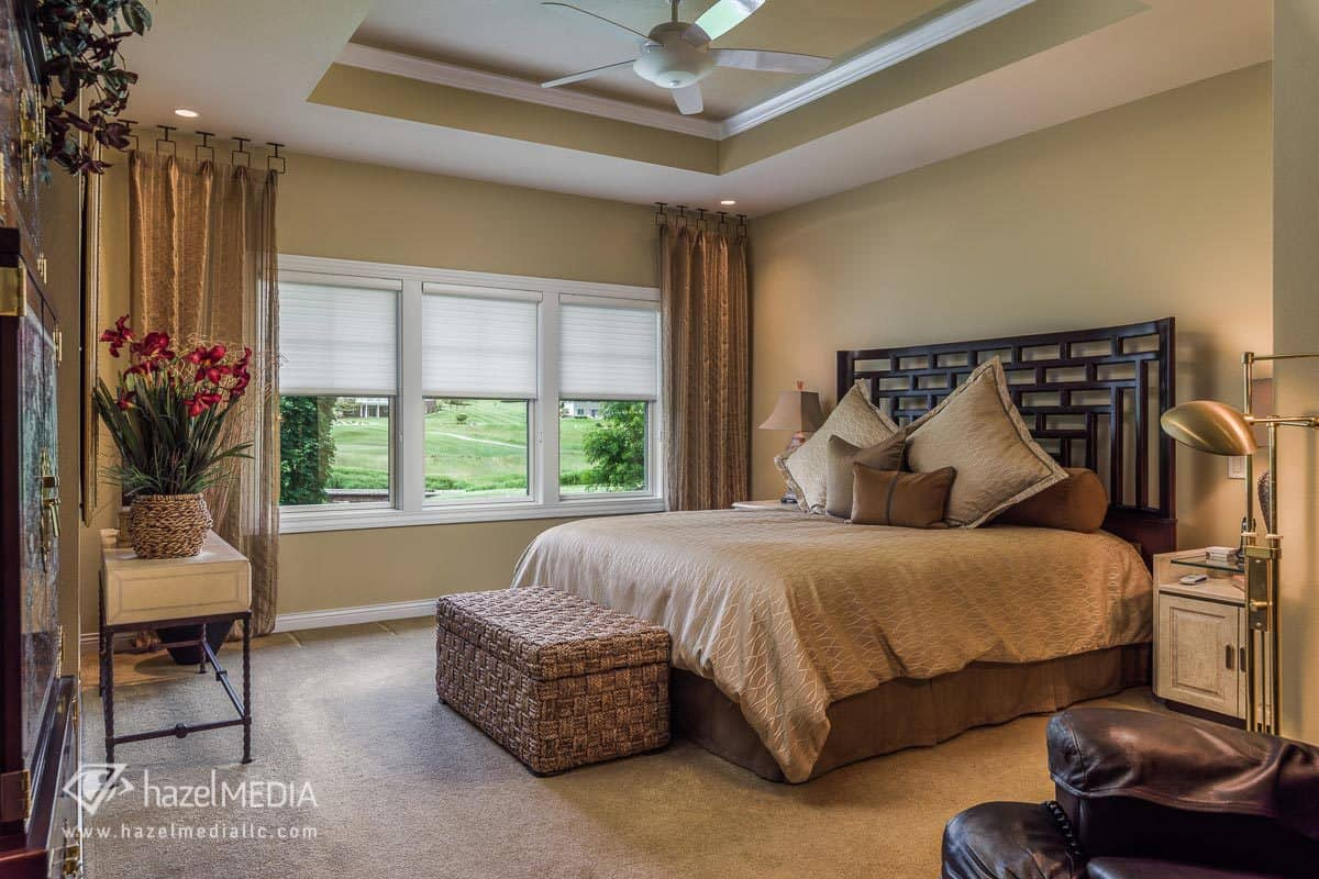Interior residential photography bedroom
